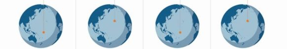 Этот рисунок объясняет, почему празднования Двухсотлетия во всём мире продлятся 72 часа.