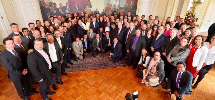 Вклад религии за мир и спокойствие была темой исследования в Президентском Дворце в Колумбии